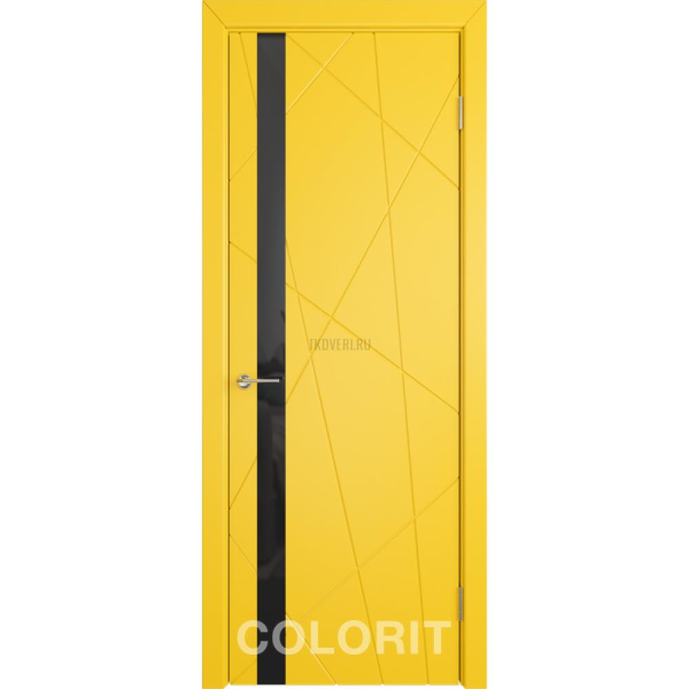 К5 COLORIT ДО черный лак  Желтая эмаль