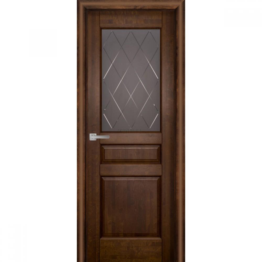 Дверь Валенсия остекленная Античный орех