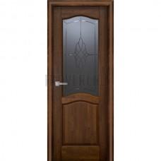 Дверь Лео м. остекленная Античный орех