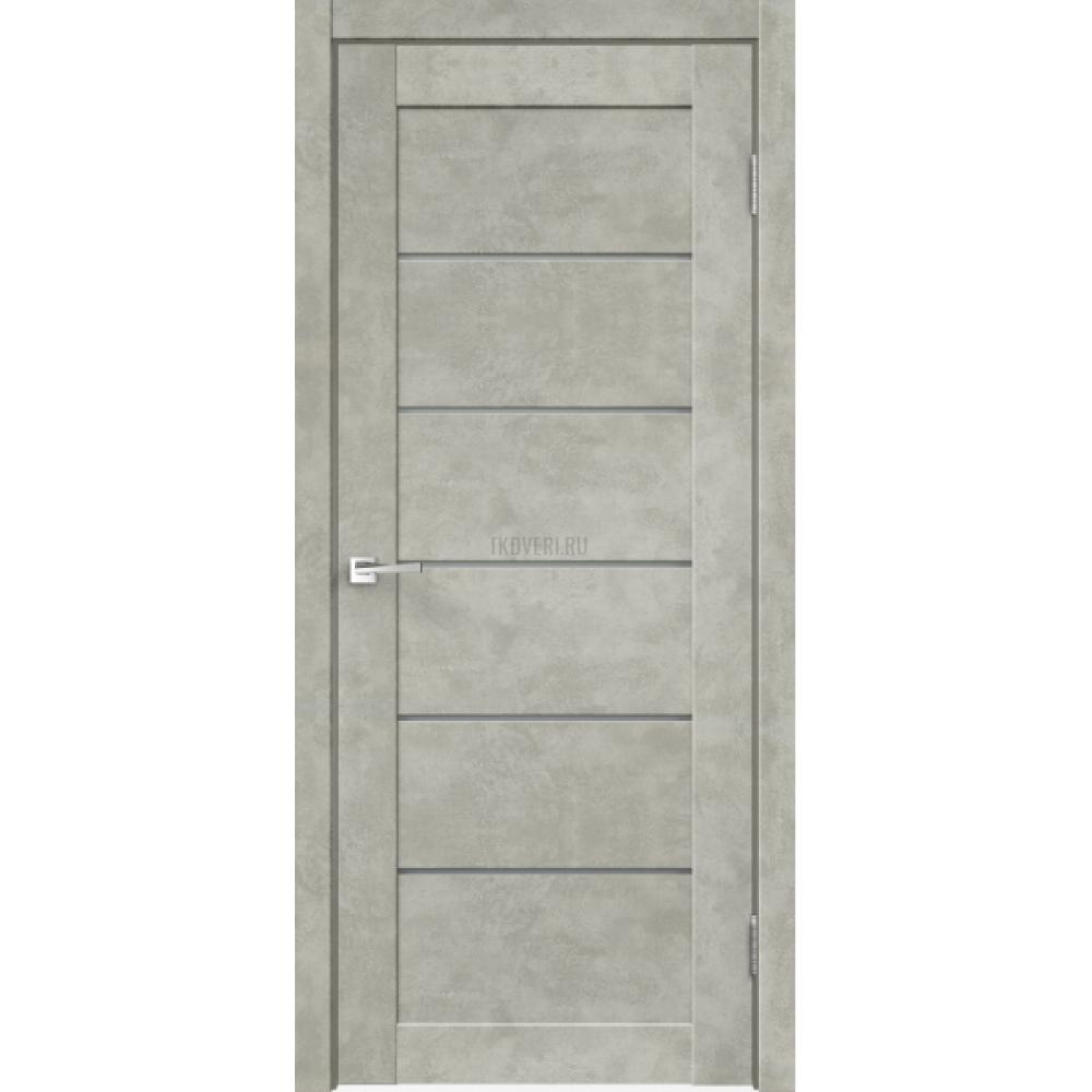 Дверь Master Foil LOFT 1 Цвет Бетон светло-серый стекло Мателюкс Графит