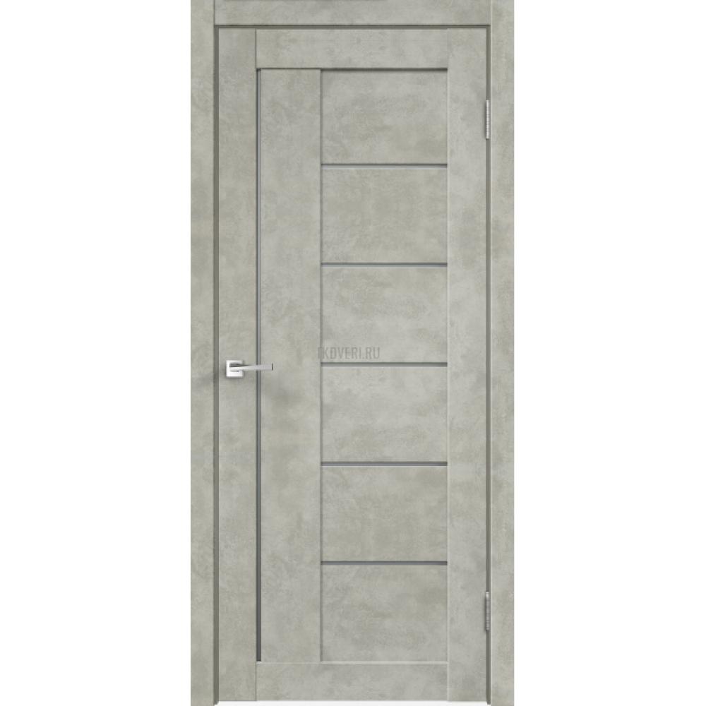 Дверь Master Foil LOFT 3 Цвет Бетон светло-серый стекло Мателюкс Графит