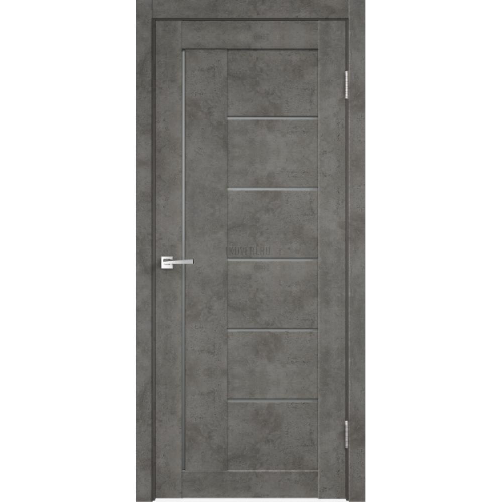 Дверь Master Foil LOFT 3 Цвет Бетон темно-серый стекло Мателюкс Графит