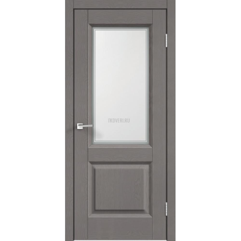 Дверь SoftTouch SoftTouch ALTO 6 цвет Ясень грей структурный стекло Мателюкс, контур №1