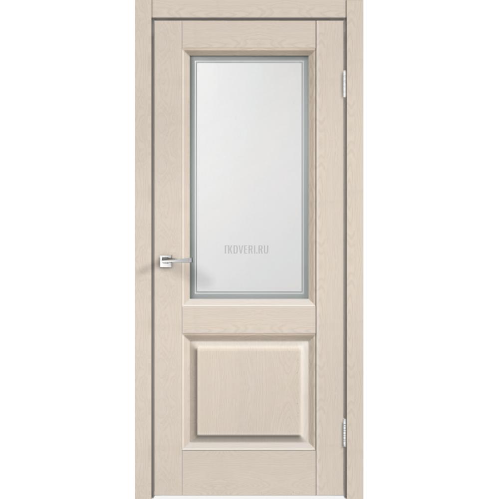 Дверь SoftTouch SoftTouch ALTO 6 цвет Ясень капучино структурный стекло Мателюкс, контур №1