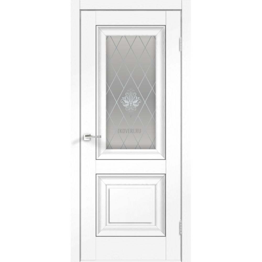 Дверь SoftTouch SoftTouch ALTO 7 цвет Ясень белый структурный стекло КРИСТАЛЛ серебро