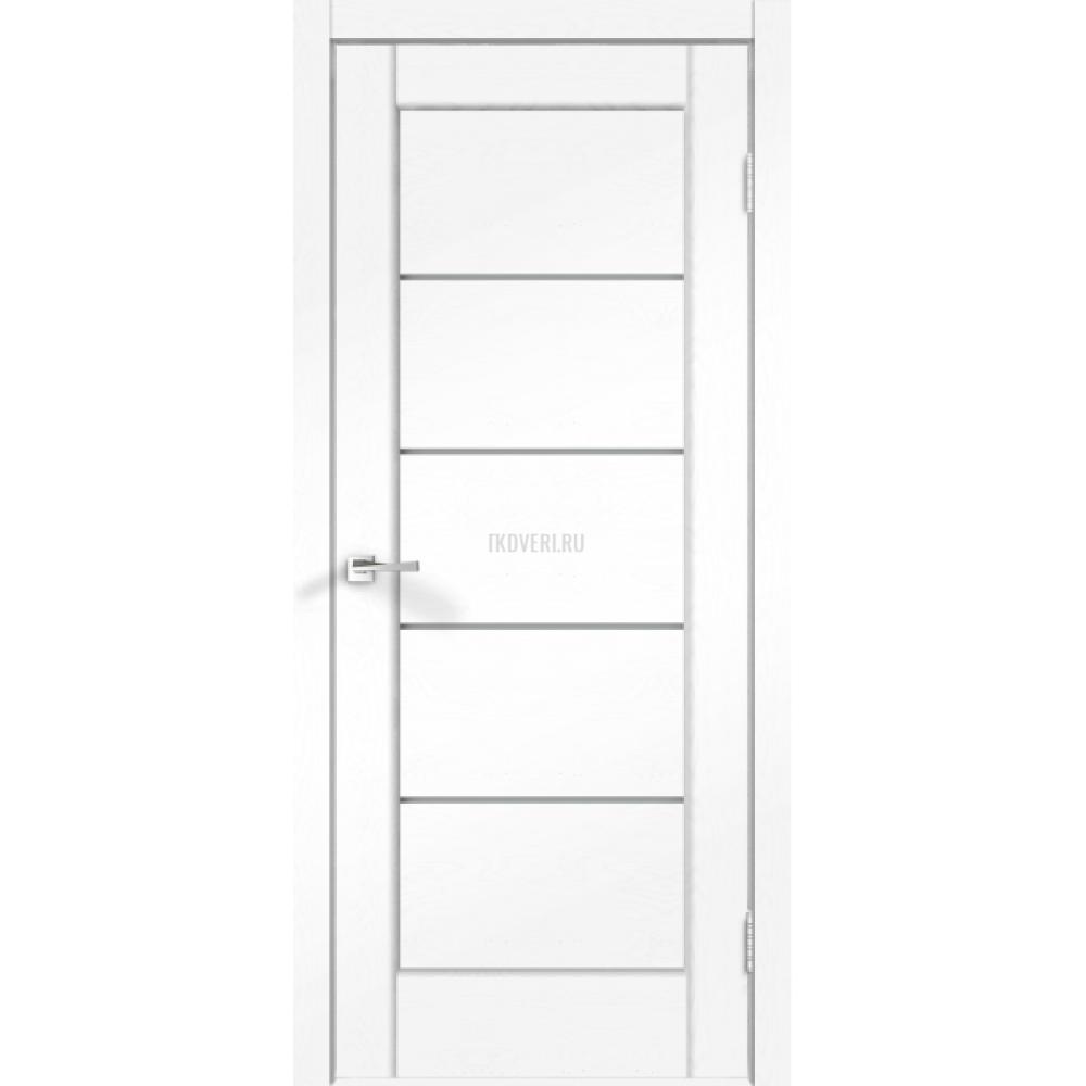 Дверь SoftTouch SoftTouch PREMIER 1 цвет Ясень белый структурный стекло Мателюкс
