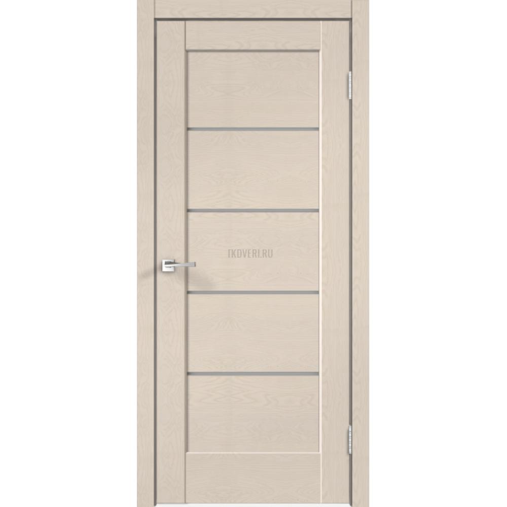 Дверь SoftTouch SoftTouch PREMIER 1 цвет Ясень капучино структурный стекло Мателюкс