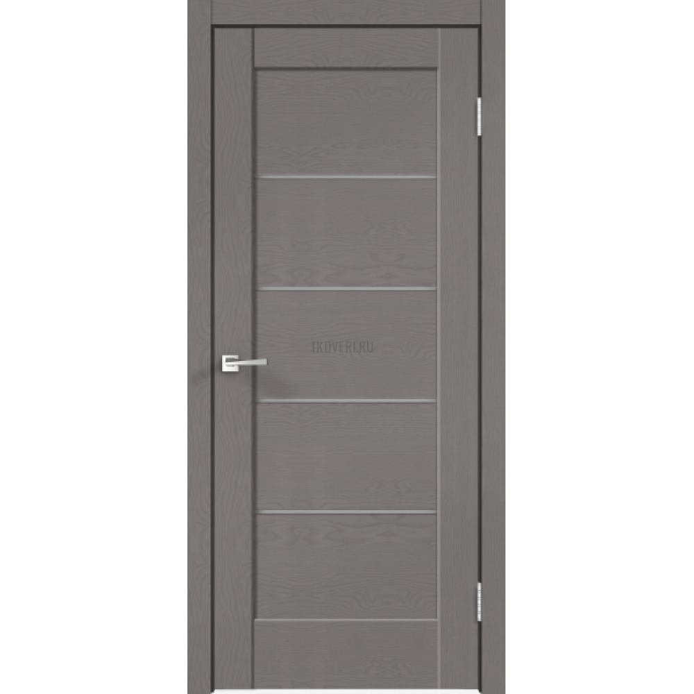 Дверь SoftTouch SoftTouch PREMIER 1 цвет Ясень грей структурный стекло Мателюкс