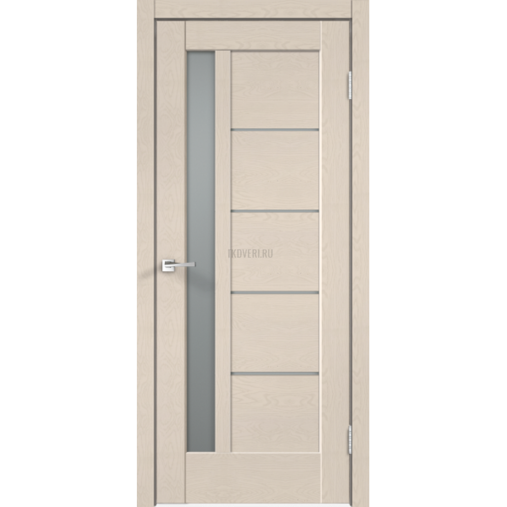 Дверь SoftTouch SoftTouch PREMIER 3 цвет Ясень капучино структурный стекло Мателюкс