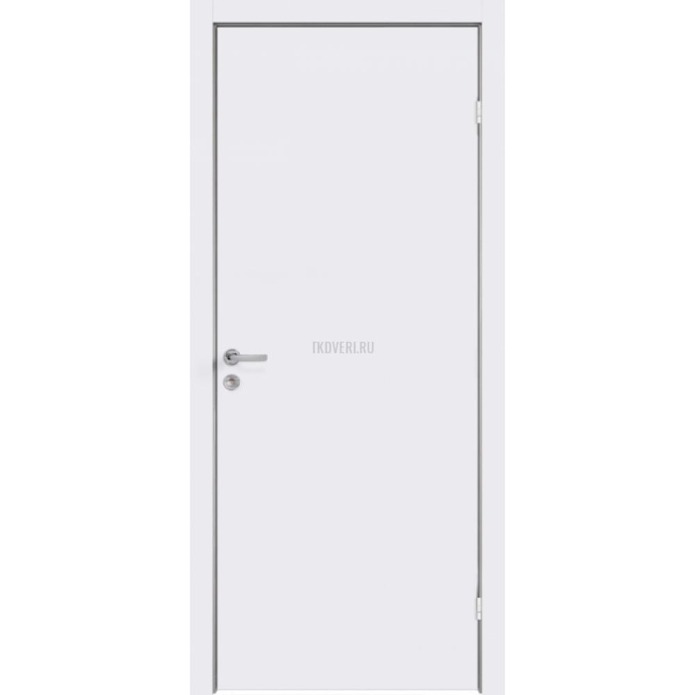 Дверь Крашенные Облегченное глухое М 7х21 цвет Белый