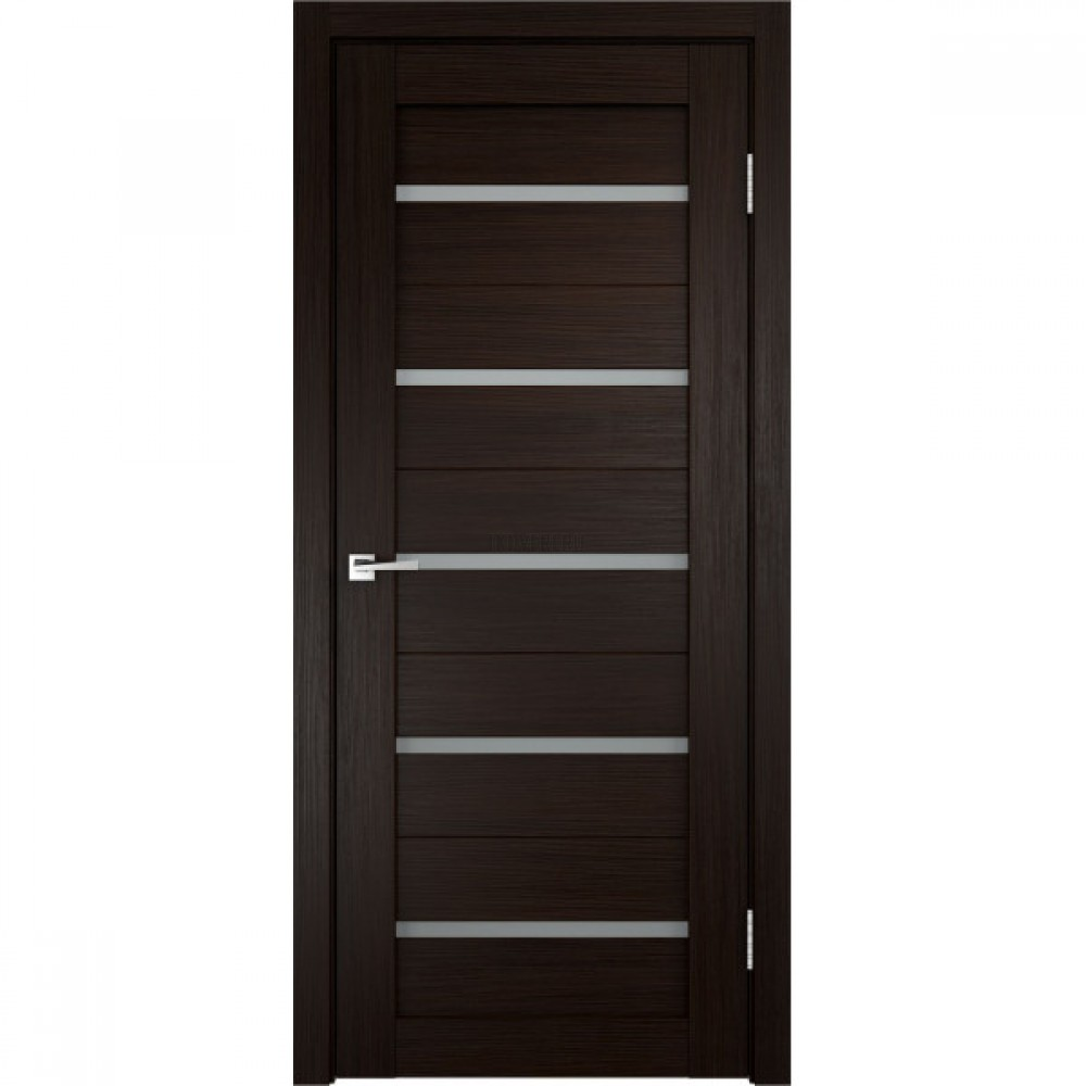 Дверь Экошпон DUPLEX цвет Венге стекло Мателюкс