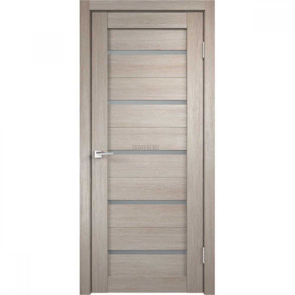Дверь Экошпон DUPLEX цвет Капучино стекло Мателюкс