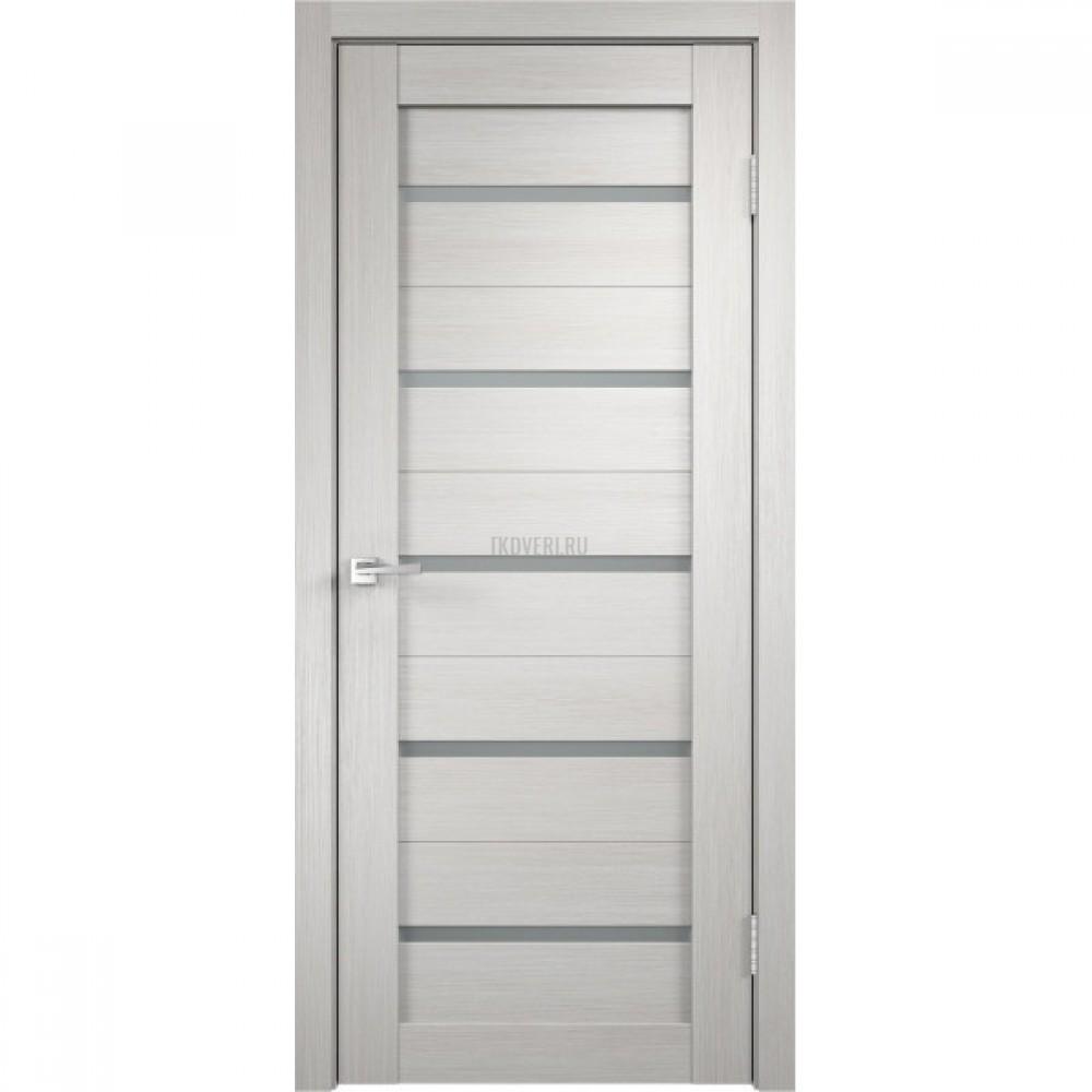 Дверь Экошпон DUPLEX цвет Дуб белый стекло Мателюкс