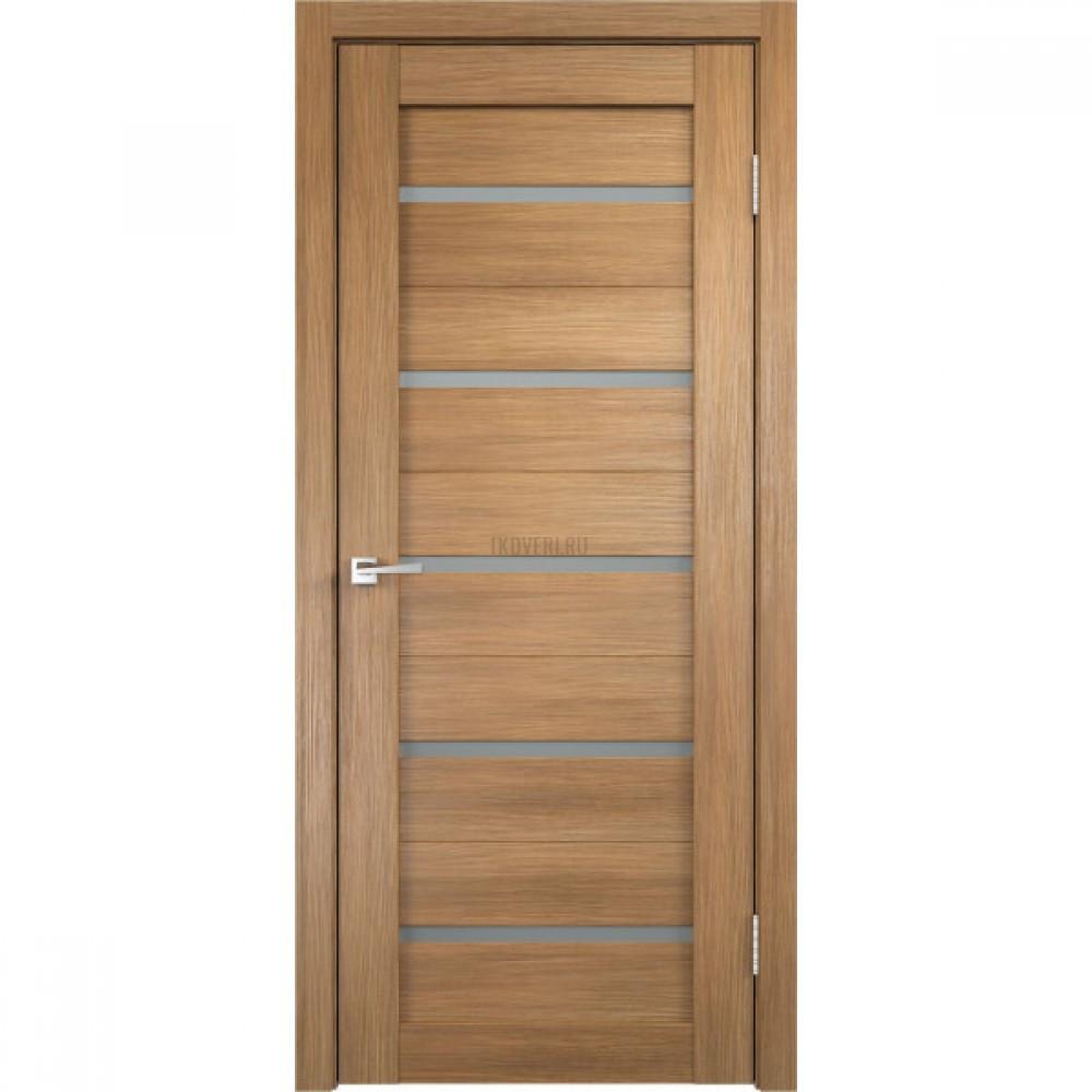Дверь Экошпон DUPLEX цвет Дуб золотой стекло Мателюкс