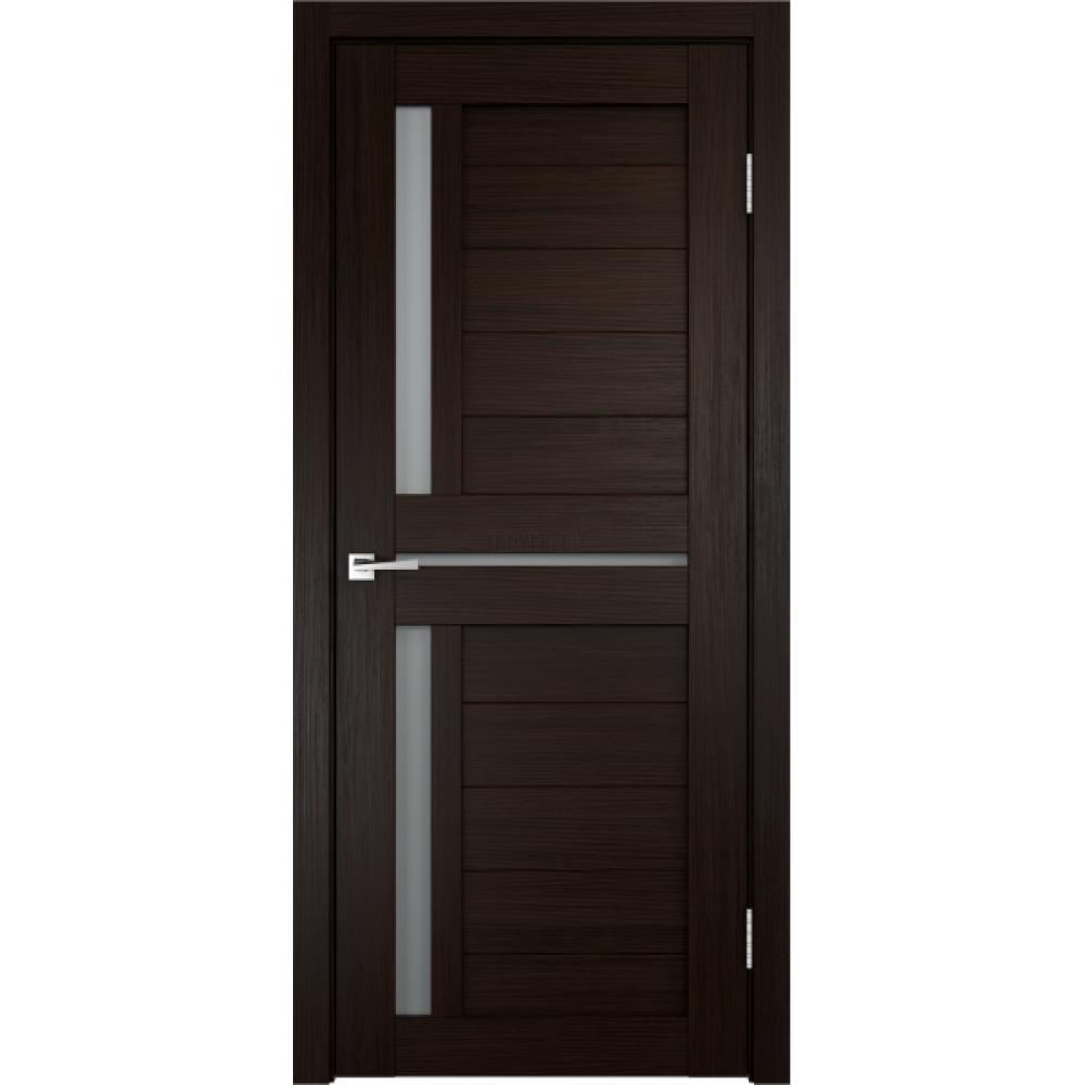 Дверь Экошпон DUPLEX 3 цвет Венге стекло Мателюкс