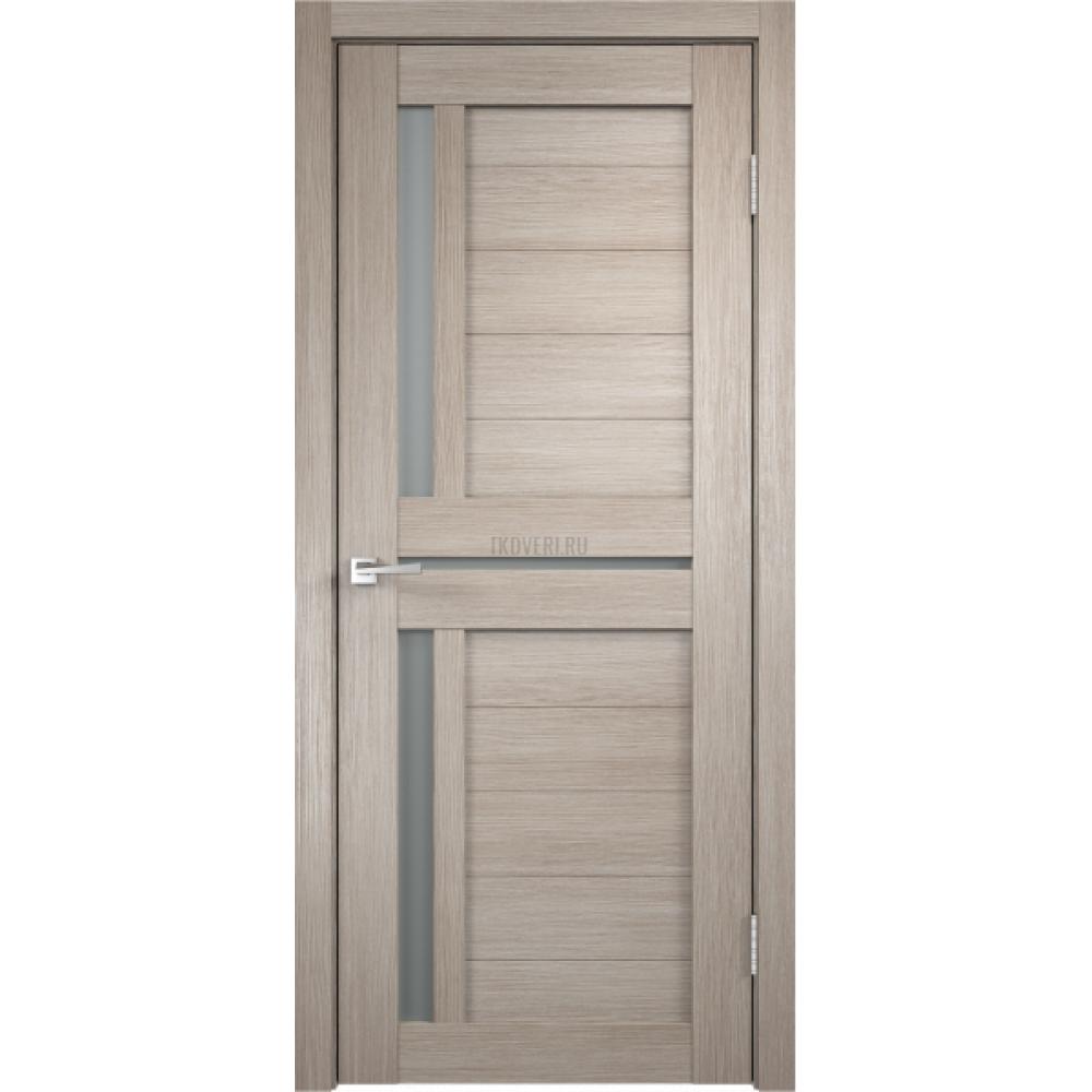Дверь Экошпон DUPLEX 3 цвет Капучино стекло Мателюкс
