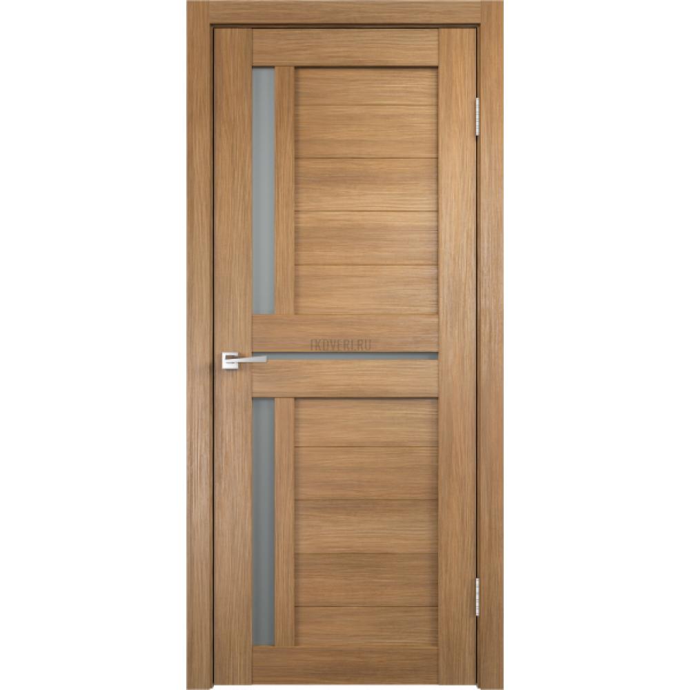 Дверь Экошпон DUPLEX 3 цвет Дуб золотой стекло Мателюкс