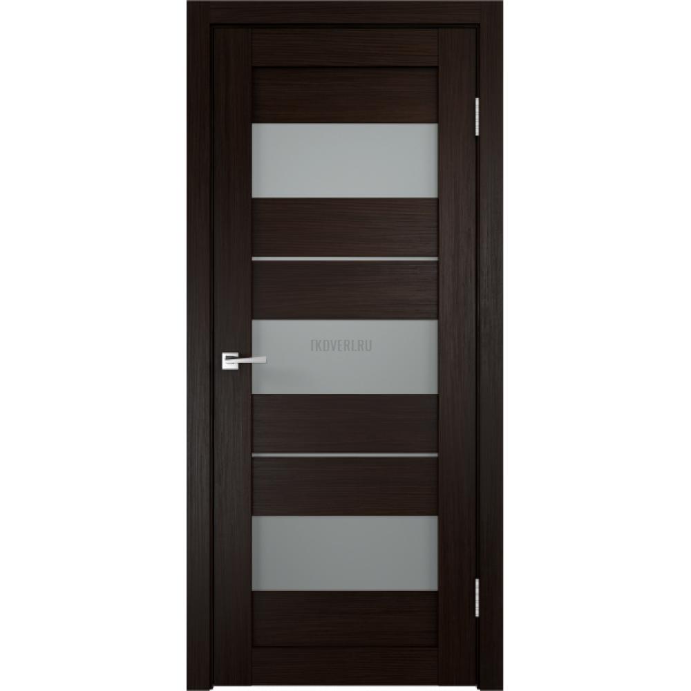 Дверь Экошпон DUPLEX 12 цвет Венге стекло Мателюкс