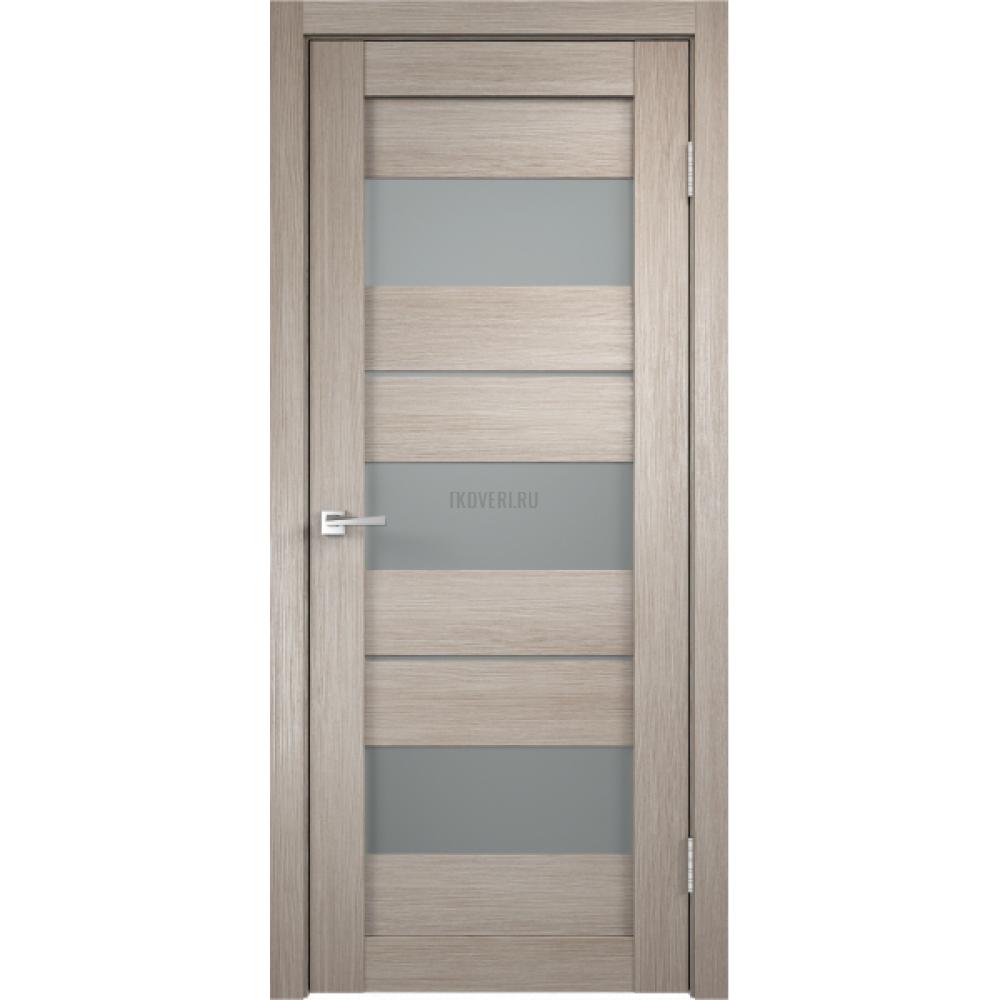 Дверь Экошпон DUPLEX 12 цвет Капучино стекло Мателюкс