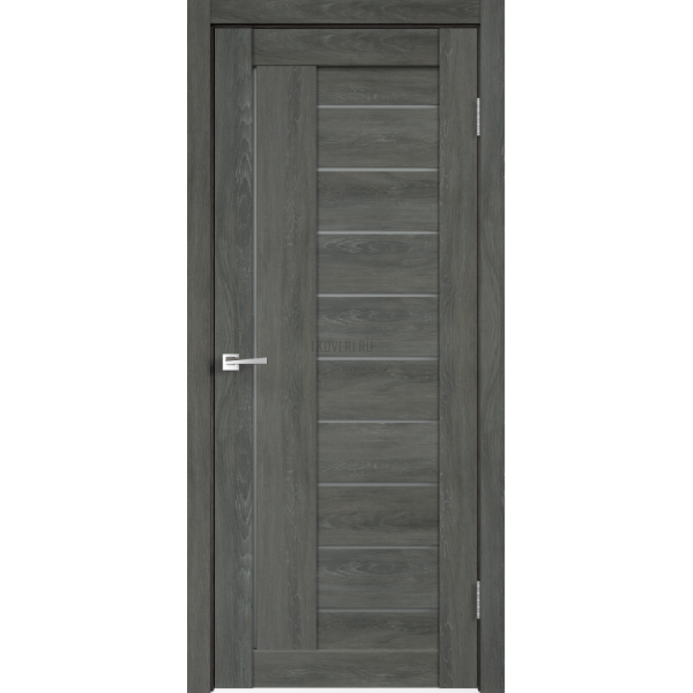 Дверь Экошпон LINEA 3 цвет Дуб шале графит стекло Мателюкс