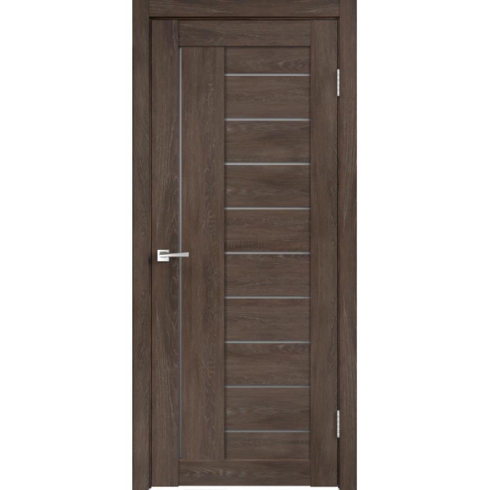 Дверь Экошпон LINEA 3 цвет Дуб шале корица стекло Мателюкс