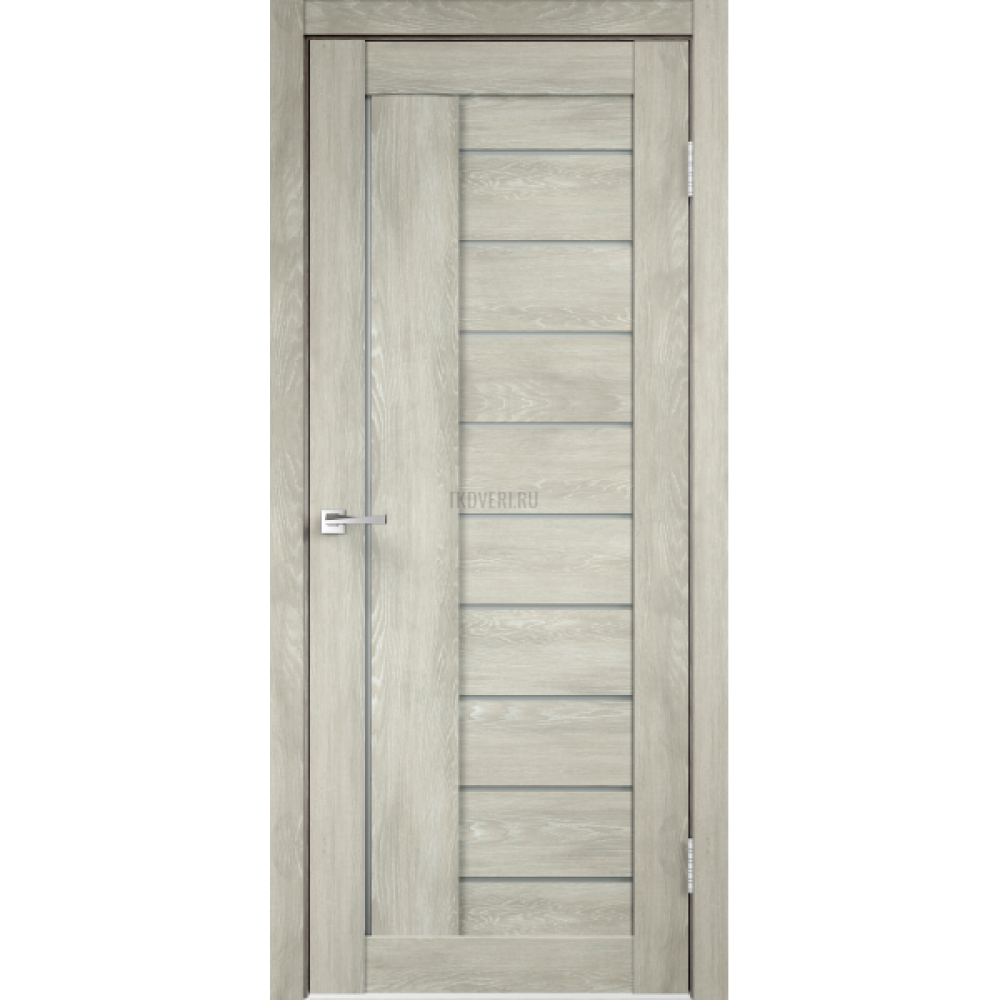 Дверь Экошпон LINEA 3 цвет Дуб шале седой стекло Мателюкс