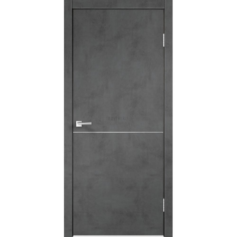 Дверь Экошпон TECHNO М1 цвет Муар темно-серый