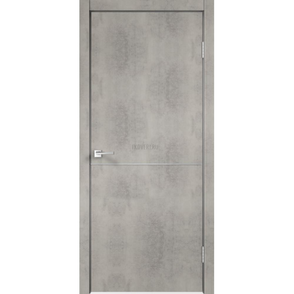 Дверь Экошпон TECHNO М1 цвет Муар светло-серый