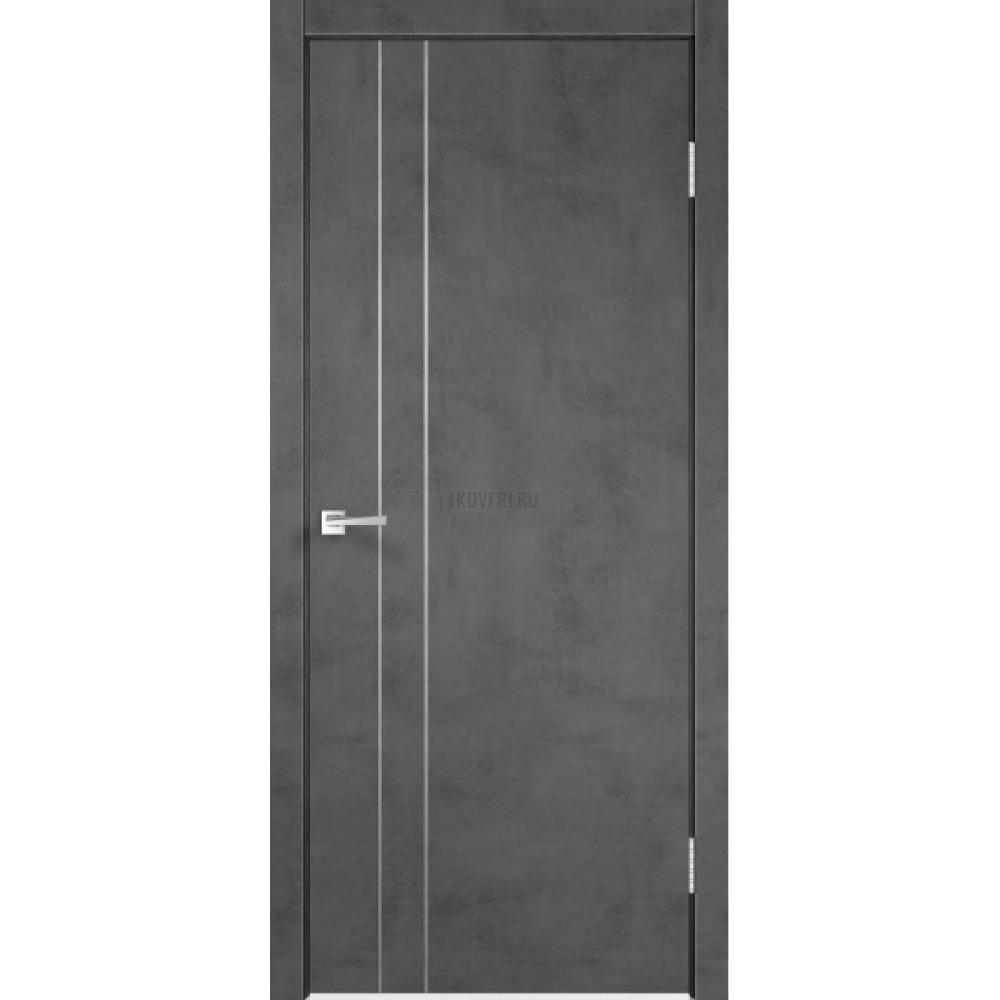 Дверь Экошпон TECHNO облегченное М2 цвет Муар темно-серый
