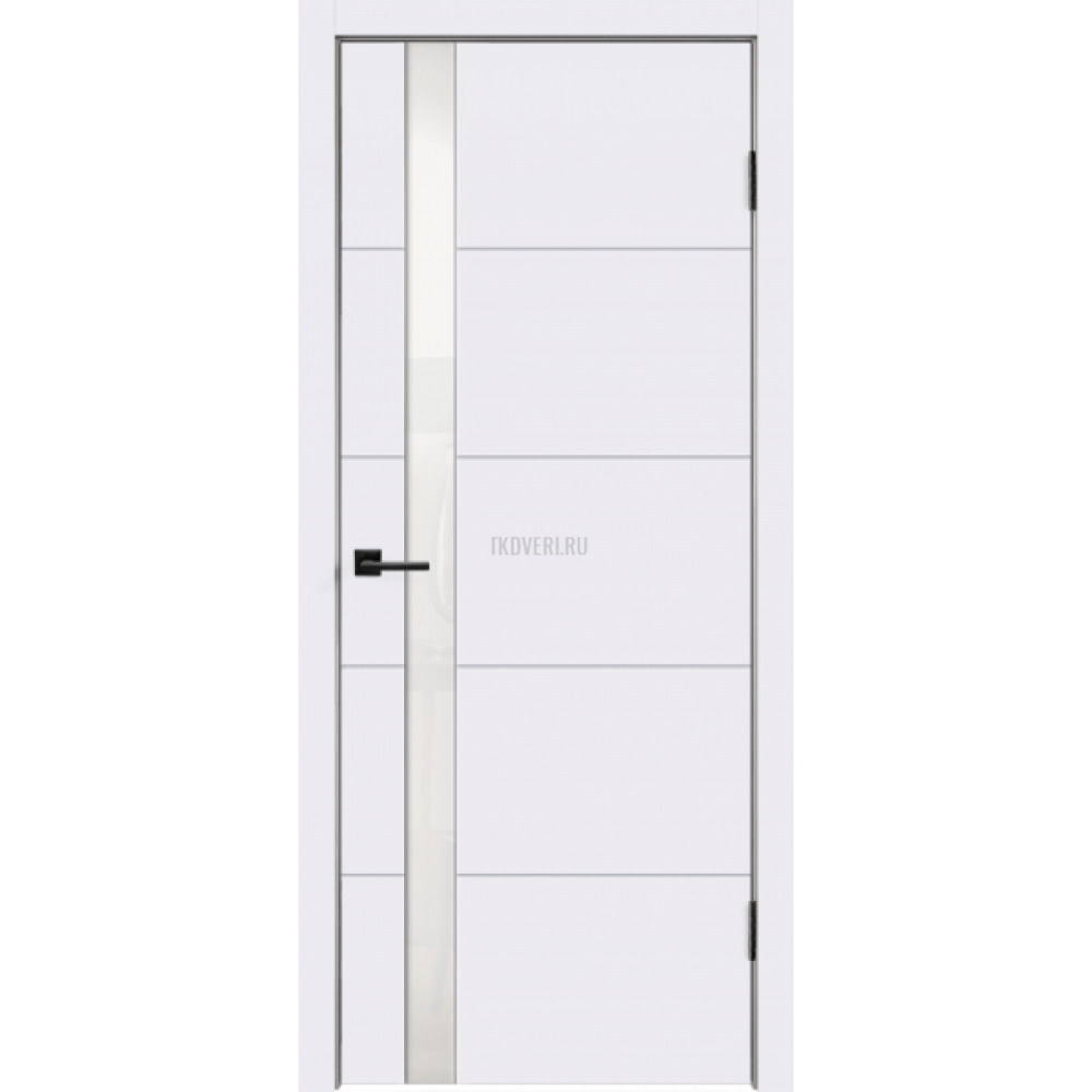 Дверь Эмаль SCANDI F Z1 цвет Белый RAL9003 стекло Лакобель белое