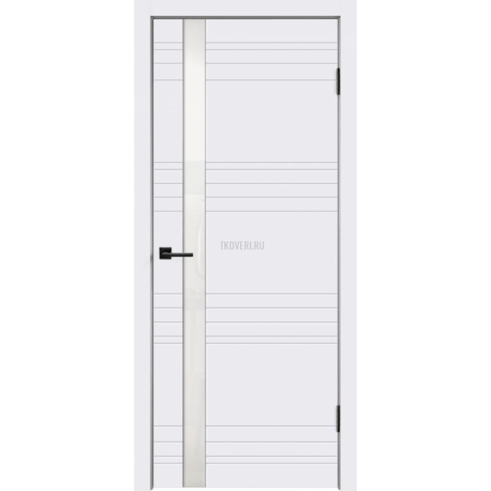 Дверь Эмаль SCANDI N Z1 цвет Белый RAL9003 стекло Лакобель белое