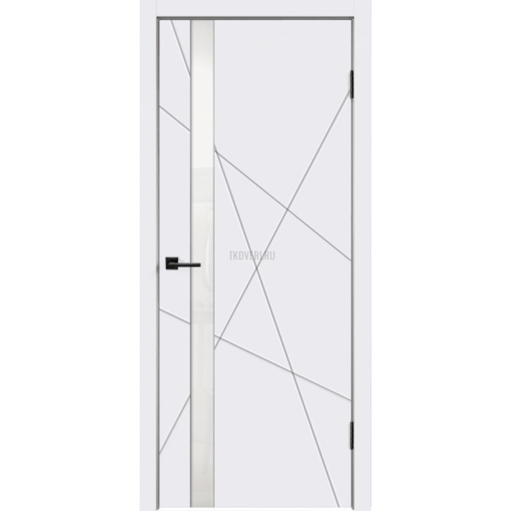 Дверь Эмаль SCANDI S Z1 цвет Белый RAL9003 стекло Лакобель белое