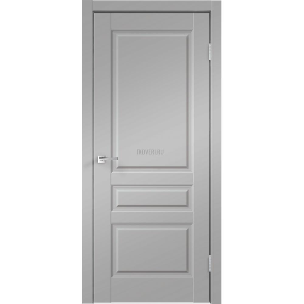 Дверь Экошпон VILLA 3P цвет Серый Эмалит