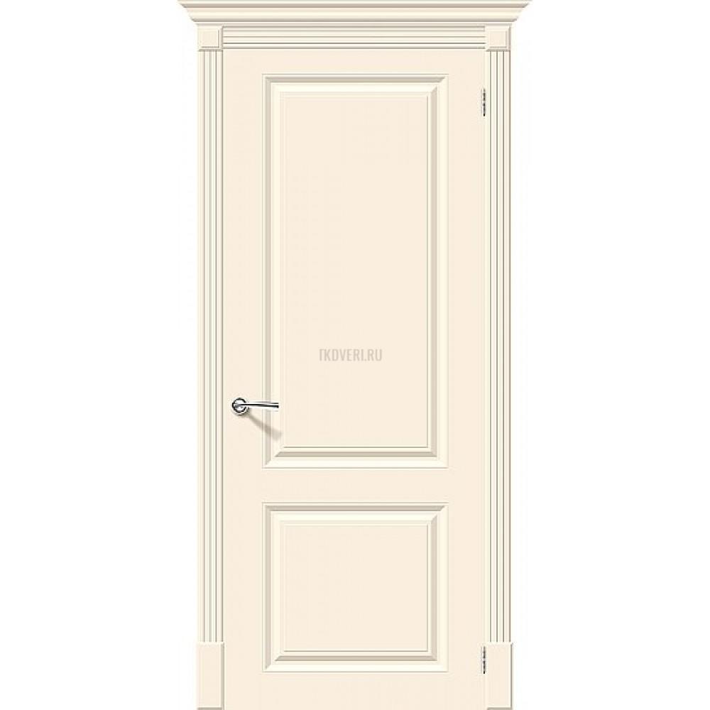 Дверь эмаль Скинни-12 Cream глухая
