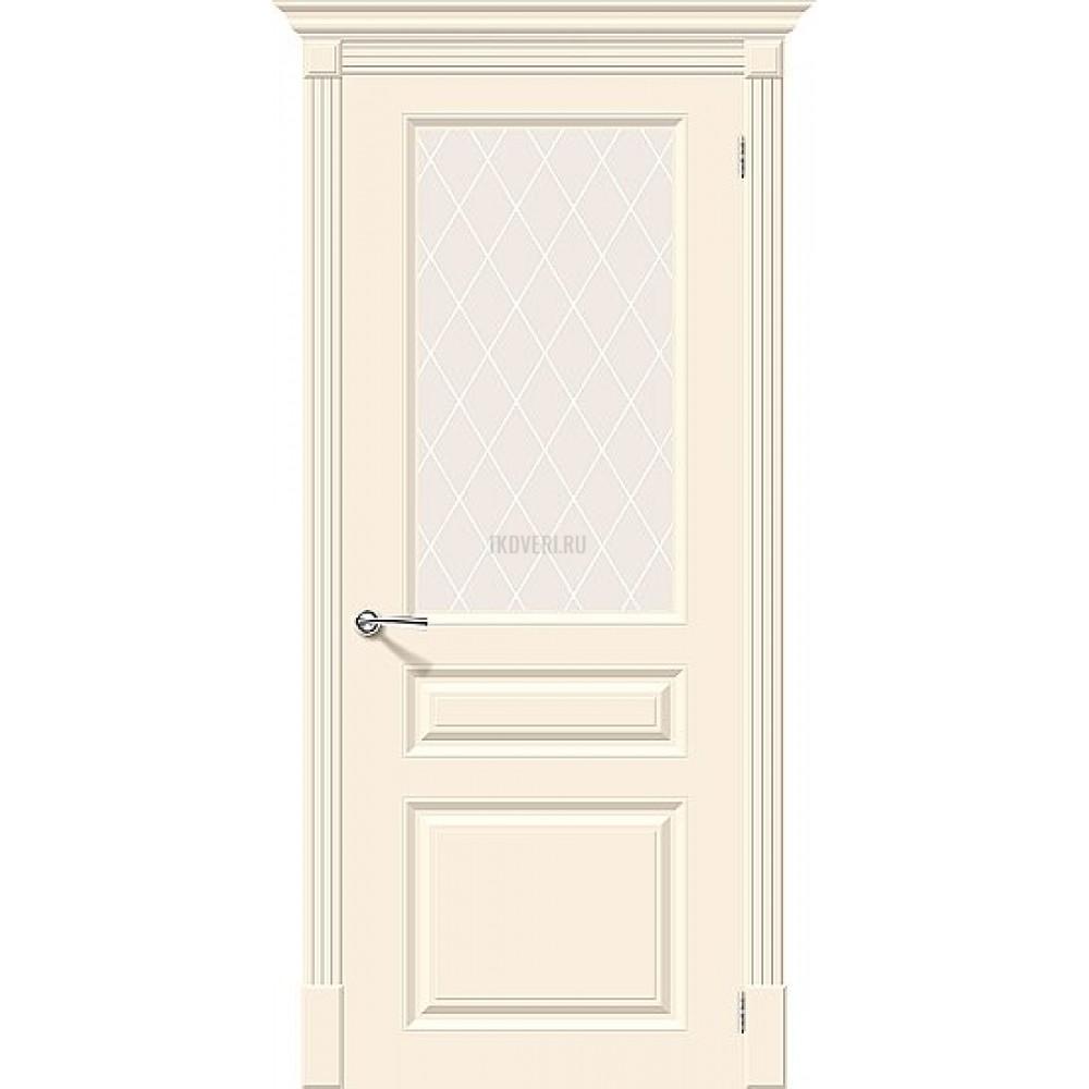 Дверь эмаль Скинни-15.1 Cream остекленная