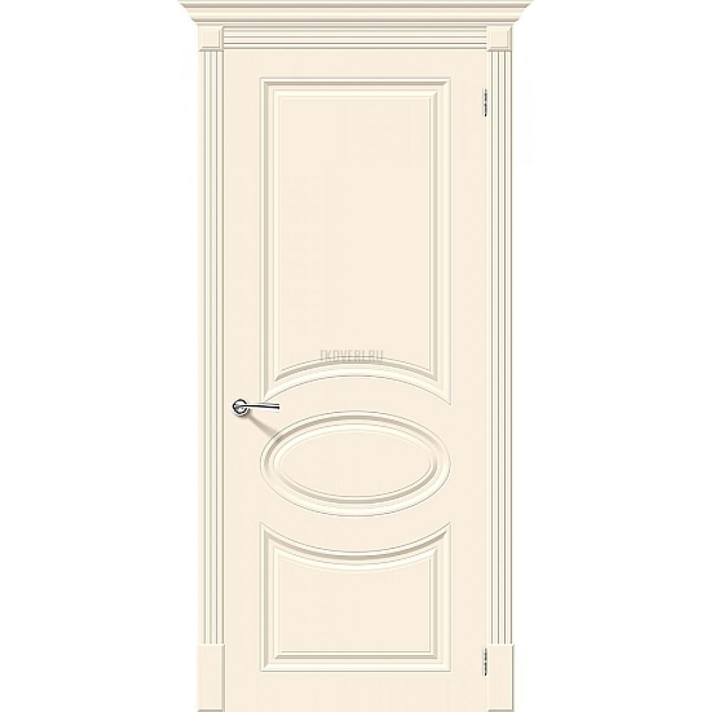 Дверь эмаль Скинни-20 Cream глухая
