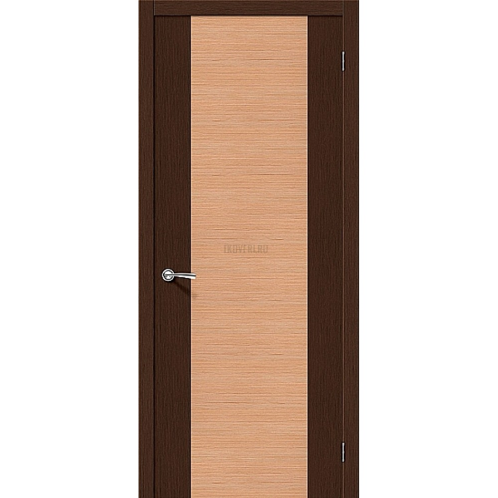 Межкомнатная дверь глухая Этюд со шпоном файн-лайн 003-0355 Венге/Дуб