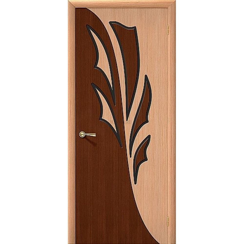 Владимирская дверь Дуэт со шпон файн-лайн серия Standard