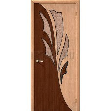 Владимирская дверь Дуэт остекленная со шпон файн-лайн серия Standard