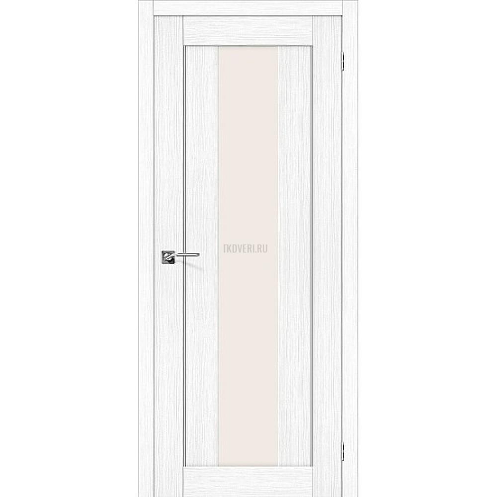 Дверь экошпон Порта-25 alu Snow Veralinga