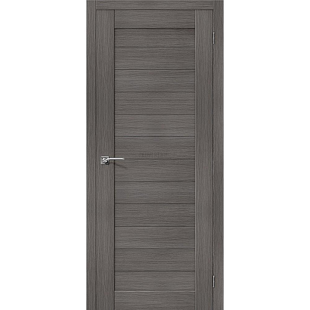 Межкомнатная дверь «Порта-21» Grey Veralinga -покрытие  экошпон