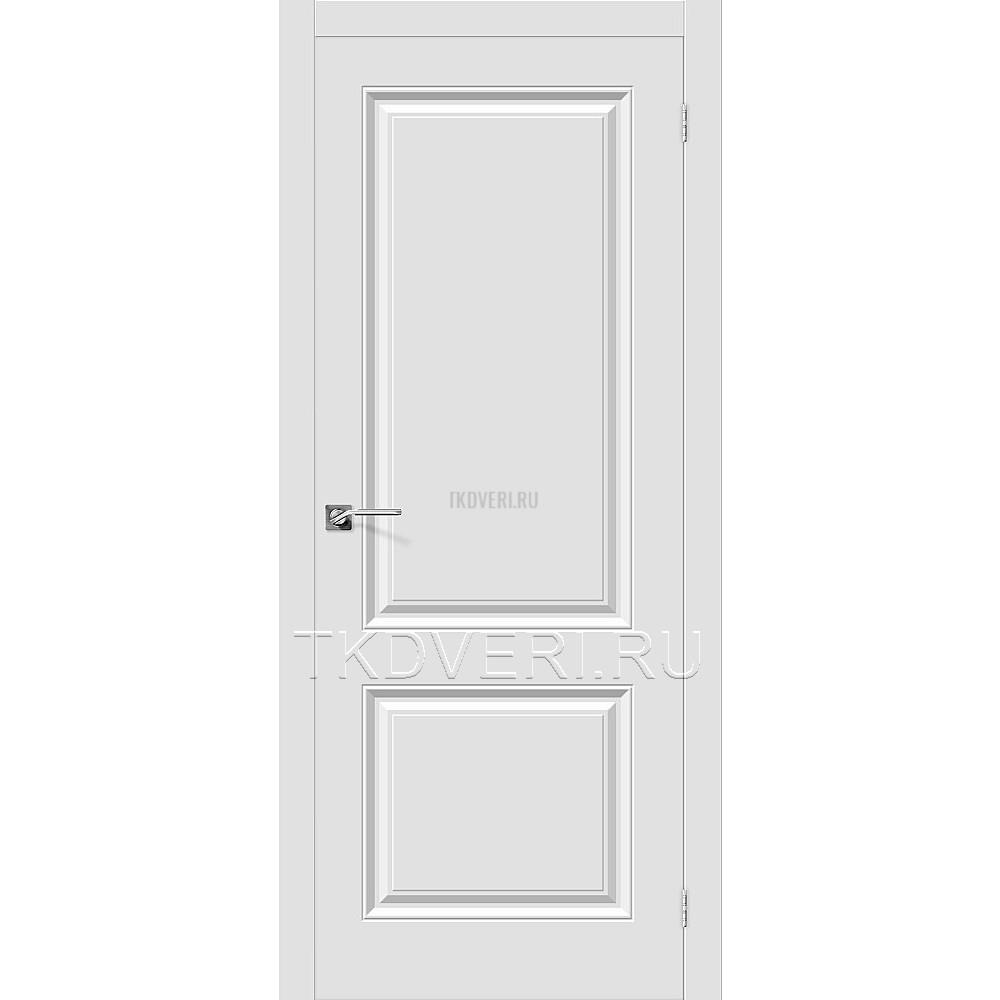 Дверь ПВХ Скинни-12 Белый глухая.