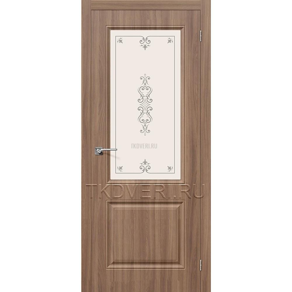 Дверь ПВХ Скинни-13 Шимо темый остекленная