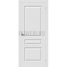 Дверь ПВХ Скинни-14 Белый глухая