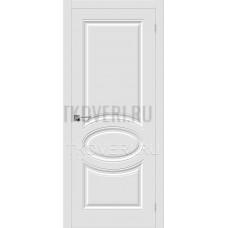 Дверь ПВХ Скинни-20 Белый глухая