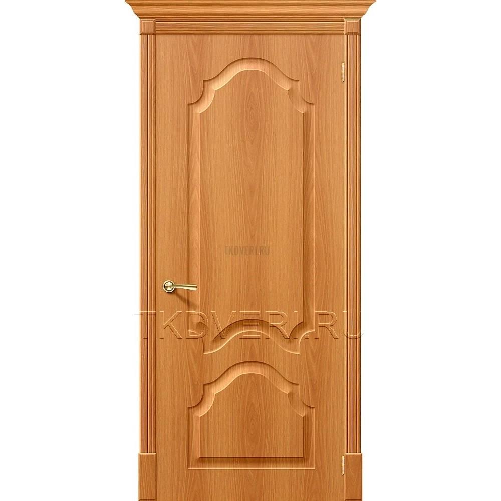 Дверь ПВХ Скинни-32 Миланский орех глухая