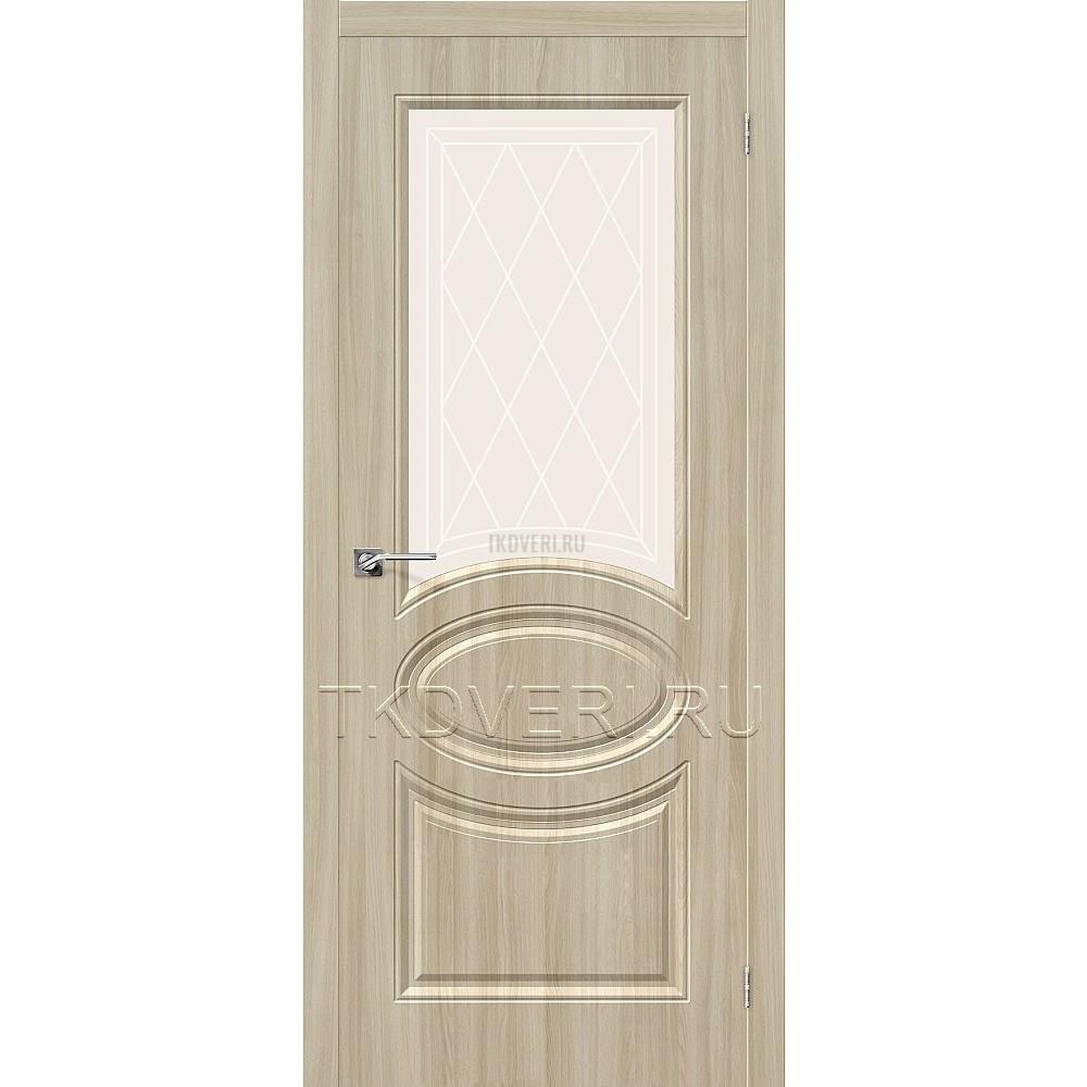 Дверь ПВХ Статус-21 Шимо светлый остекленная
