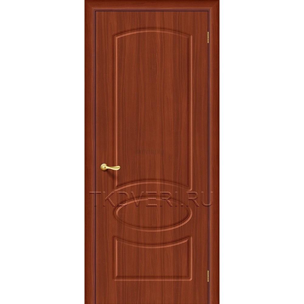 Дверь ПВХ Неаполь Итальянский орех глухая