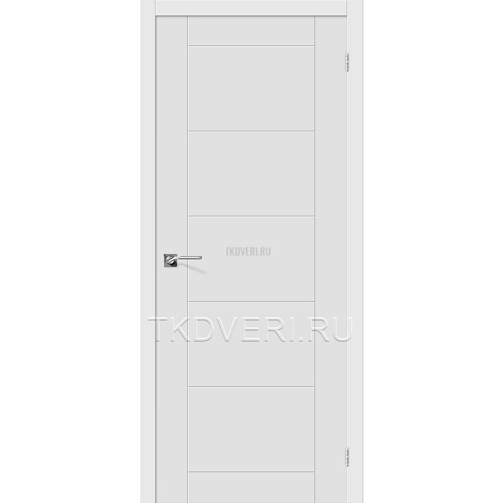 Дверь ПВХ Граффити-4 Белый глухая