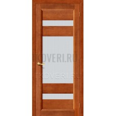 Вега-2 Темный орех дверь из массива сосны